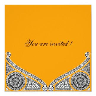 RENASCIMENTO, amarelo alaranjado Convites Personalizados