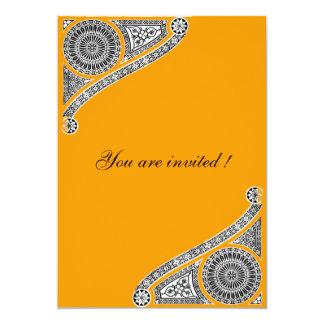 RENASCIMENTO, amarelo alaranjado Convite Personalizado