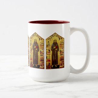 Renascimento de Francisco de Assis do santo Caneca De Café Em Dois Tons