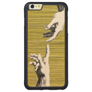 Renascimento de Michelangelo Capa Bumper Para iPhone 6 Plus De Carvalho, Carved