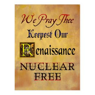 Renascimento livre nuclear que diz o cartão cartão postal