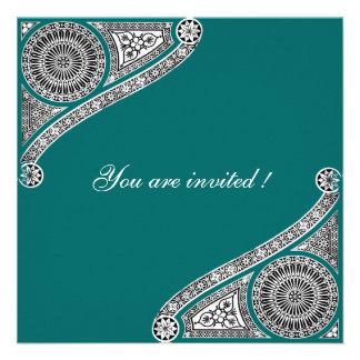 RENASCIMENTO, verde azul Convites Personalizados