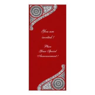 RENASCIMENTO, vermelho Convites Personalizados