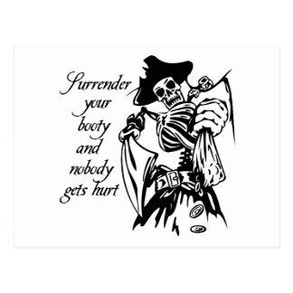 Renda seus cartão do pirata do montante