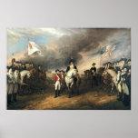 Rendição de Yorktown pelo poster de John Trumbull