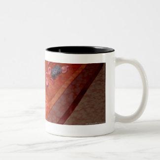 Rendição microscópica de uma infecção do sangue caneca de café em dois tons