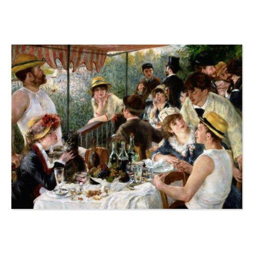 Renoir: Almoço do partido do barco Cartões De Visita