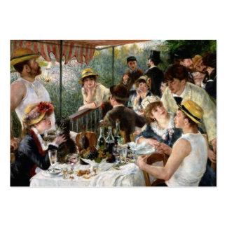 Renoir: Almoço do partido do barco Cartão De Visita Grande