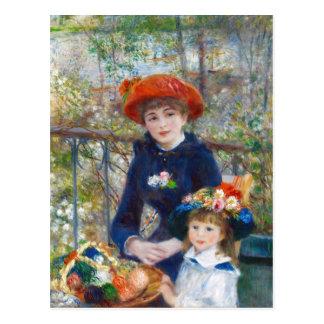 Renoir duas irmãs em um cartão do terraço CC0402