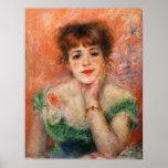Renoir Jean Samary em um baixo poster Necked do ve