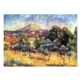 Renoir: Montagem Sainte-Victoire Cartoes De Visitas