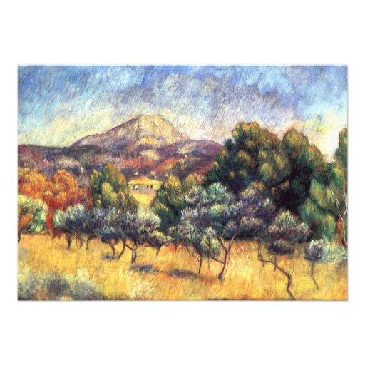 Renoir: Montagem Sainte-Victoire Convite