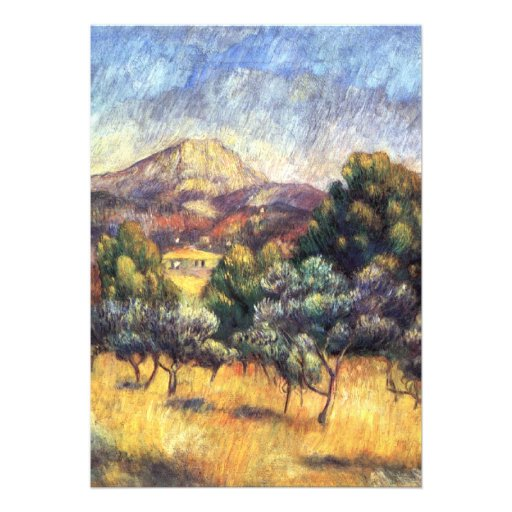 Renoir: Montagem Sainte-Victoire Convites Personalizados