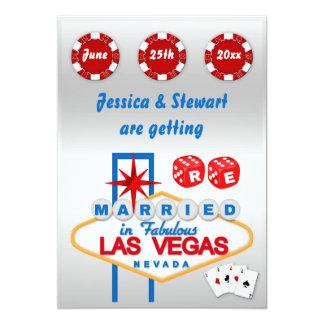 Renovação de Las Vegas de votos de casamento Convite 12.7 X 17.78cm