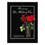 Renovação de votos de casamento - rosas vermelhas  convite personalizado