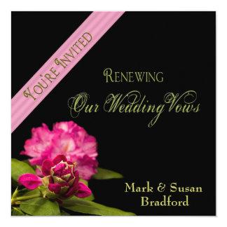Renovação do casamento dos votos - convites