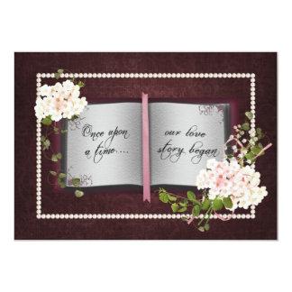Renovação do voto de casamento do livro de Love Convite 12.7 X 17.78cm