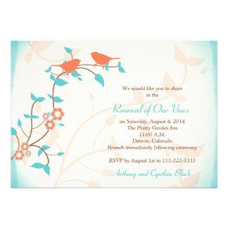 Renovação do voto do aniversário de casamento dos convite personalizado