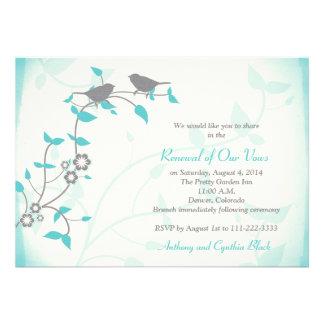Renovação do voto do aniversário de casamento dos convites