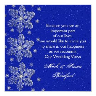 Renovação Inviation do voto de casamento no Convite Quadrado 13.35 X 13.35cm