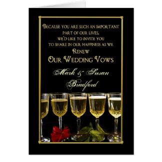 Renovação Wedding do convite dos votos -