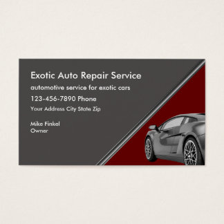 Reparação de automóveis exótica do carro cartão de visitas