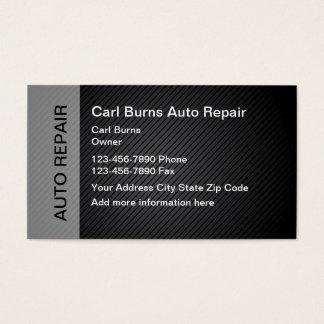 Reparação de automóveis moderna cartão de visitas