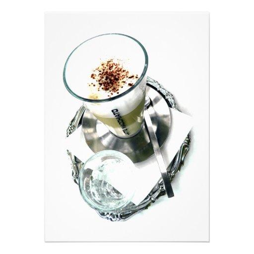 Reparo de Latte do café Convites Personalizado