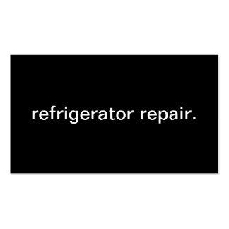 Reparo do refrigerador cartão de visita