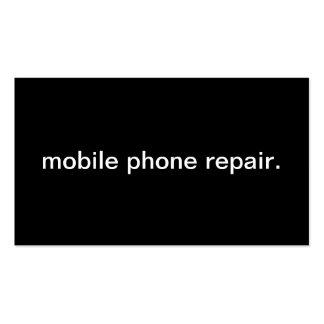 Reparo do telefone móvel cartão de visita