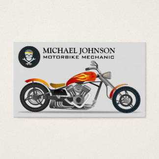 Reparo feito sob encomenda da motocicleta do cartão de visitas