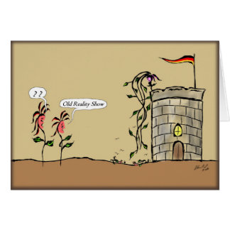 Repetição de Rapunzel Cartão Comemorativo