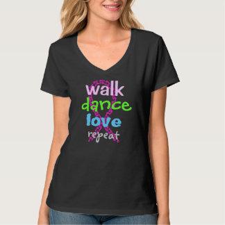 Repetição do amor da dança da caminhada t-shirt