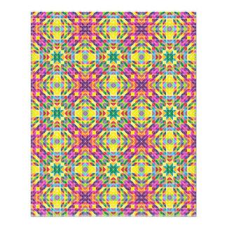 Repetição do mosaico do arco-íris flyer 11.43 x 14.22cm
