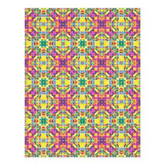 Repetição do mosaico do arco-íris flyer 21.59 x 27.94cm