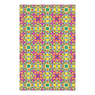 Repetição do mosaico do arco-íris flyer 13.97 x 21.59cm
