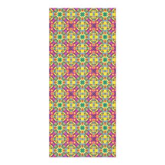 Repetição do mosaico do arco-íris 10.16 x 22.86cm panfleto