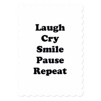 Repetição do riso convite 12.7 x 17.78cm