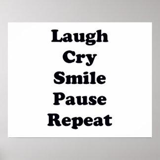 Repetição do riso pôster