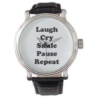 Repetição do riso relógio de pulso