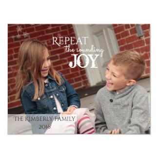 Repita a ALEGRIA de som - cartão de Natal