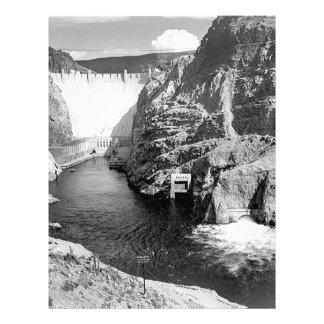 Represa de Boulder aka barragem Hoover por Ansel Modelos De Panfleto