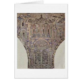 Representação da arquitetura pelo Mosaicist árabe Cartao