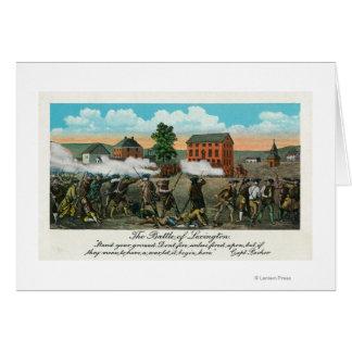Representação da batalha de Lexington Cartão Comemorativo