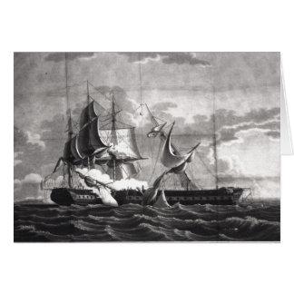 Representação da fragata dos E.U., Cartao