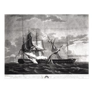 Representação da fragata dos E.U., Cartão Postal