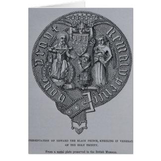 Representação de Edward o príncipe preto Cartão Comemorativo