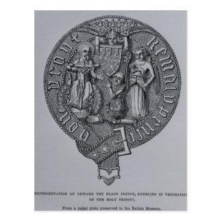 Representação de Edward o príncipe preto Cartão Postal
