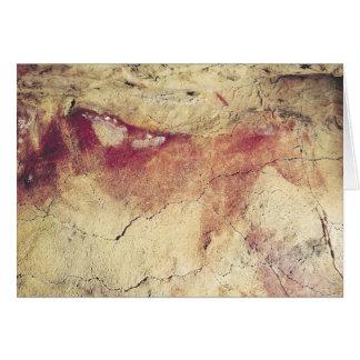 Representação de um animal, c.15000 BC Cartão Comemorativo