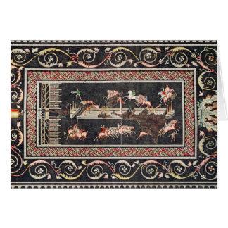 Representação de um mosaico cartão comemorativo